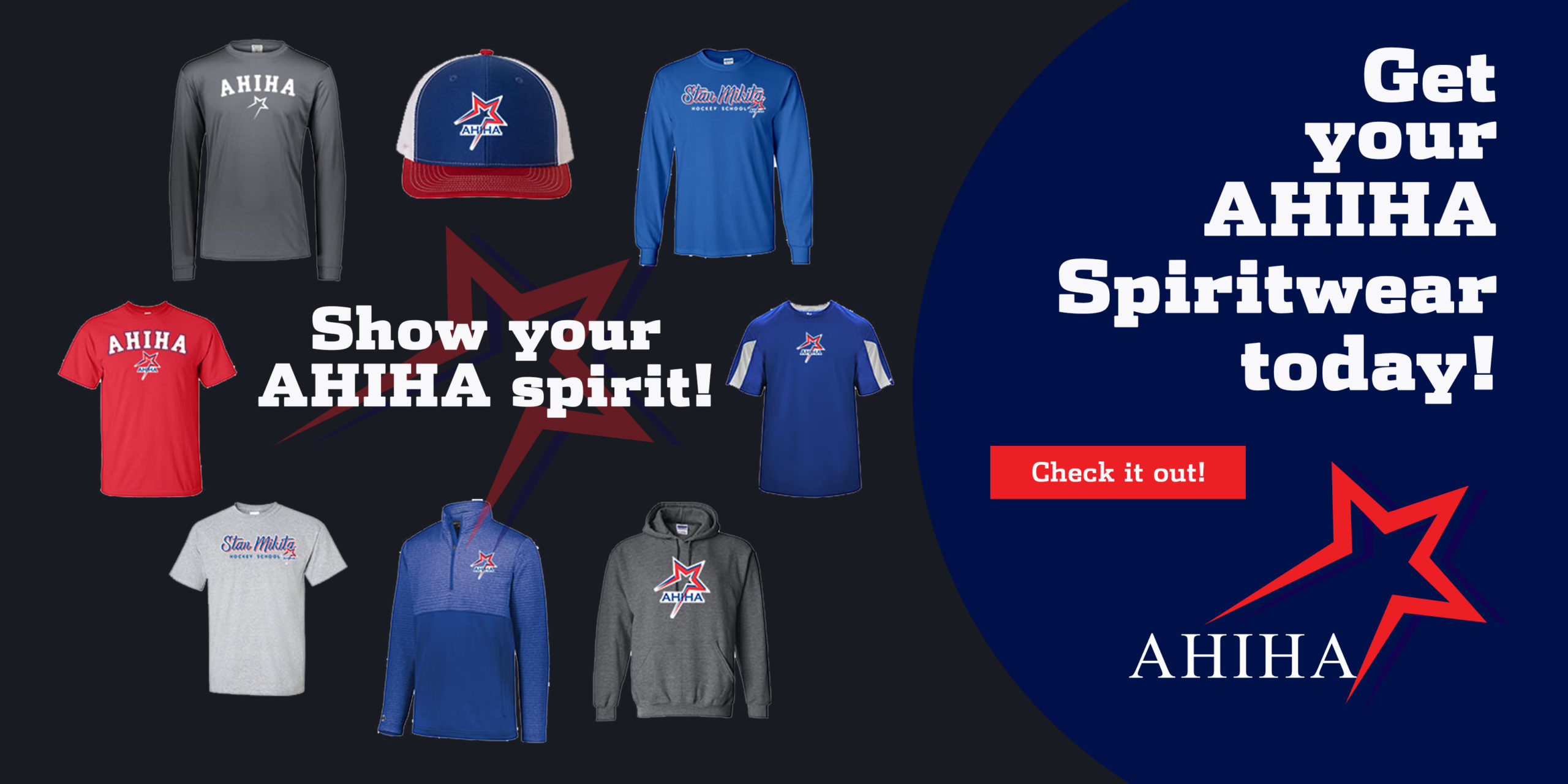 Get your AHIHA Spiritwear today!
